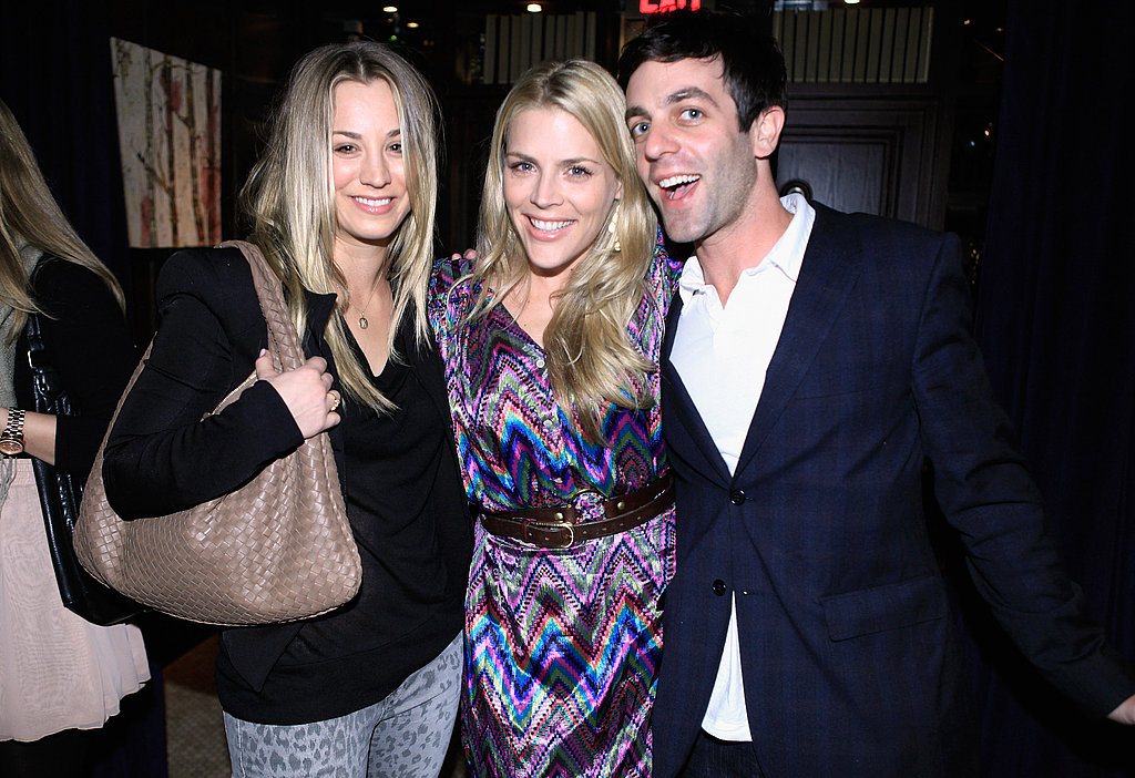 Kaley Cuoco, Busy Philipps, and B.J. Novak, snapped a group shot.
