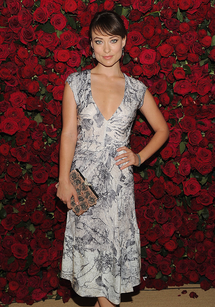 Olivia Wilde wore a simple and sweet dress to a benefit at the MoMA.