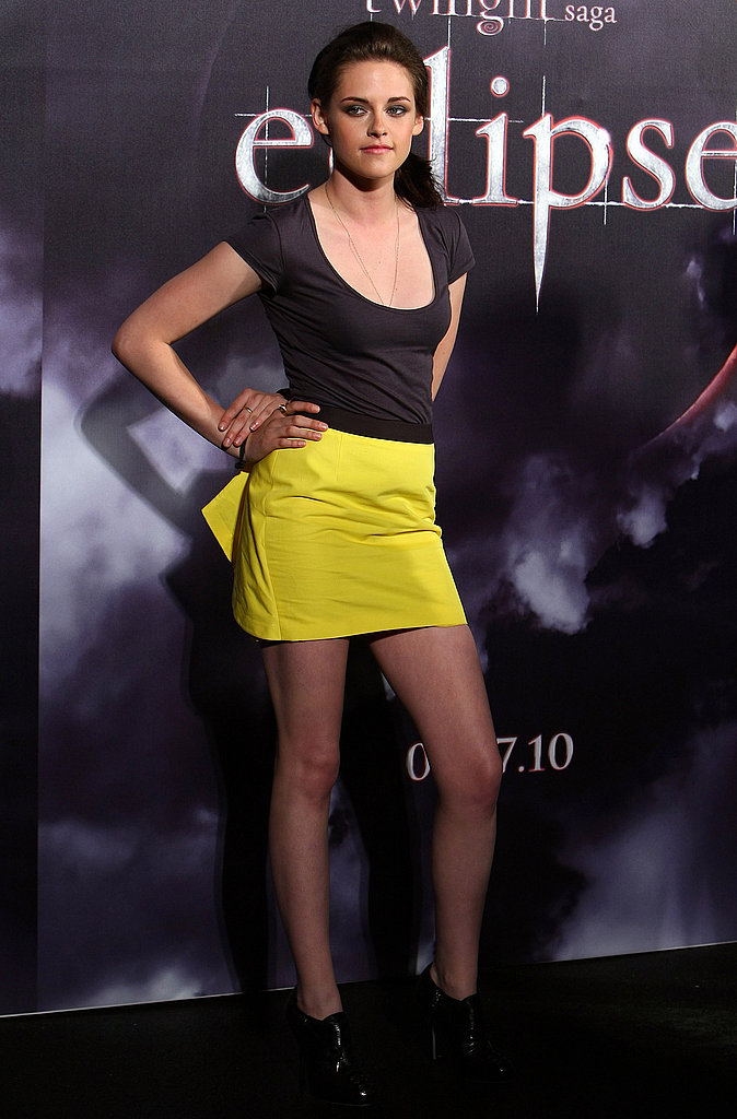 A bright Jenni Kayne mini while promoting Eclipse in Sydney in 2010.