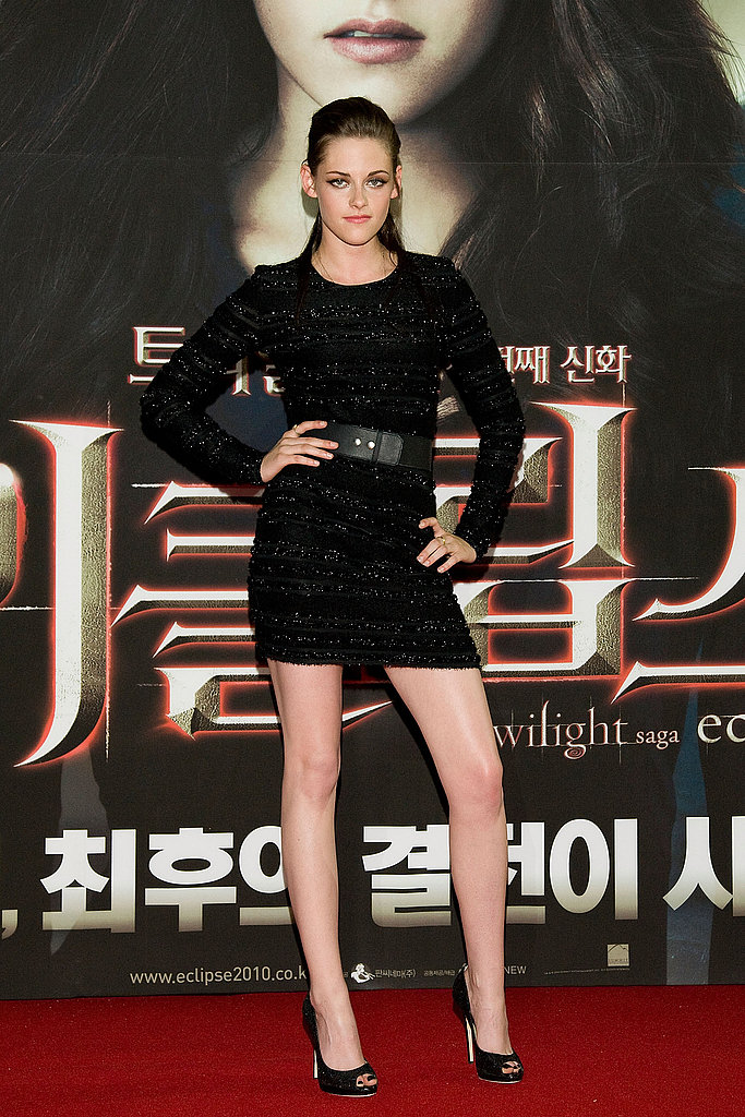 A sophisticated, black Prabal Gurung mini dress for the Eclipse premiere in South Korea.