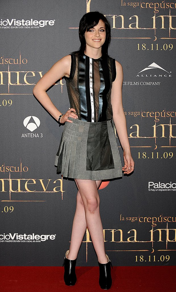 Edgy-cool Balenciaga for a New Moon fan event in Madrid in 2009.