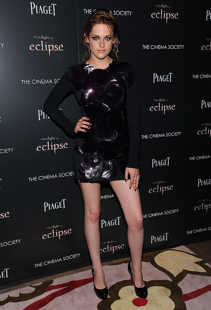 A moody RM by Roland Mouret mini dress for a New York screening of Eclipse in 2010.