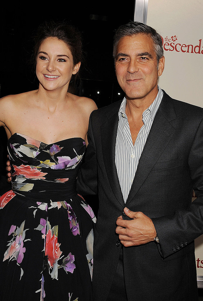 Shailene Woodley and George Clooney supported their new film in LA.