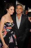 The Descendants co-stars George Clooney at Shailene Woodley came out for the LA premiere of the film.