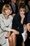 Rachel was snapped next to Anna Wintour at an Alexander Wang runway show in 2010.