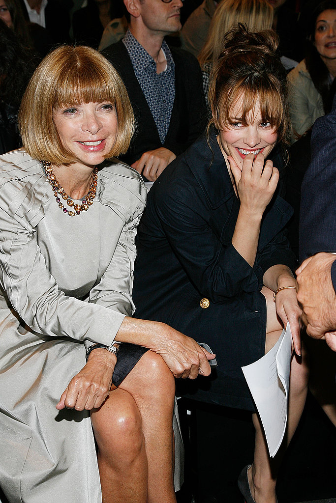 Rachel was snapped next to Anna Wintour at an Alexander Wang runway show in September 2010.