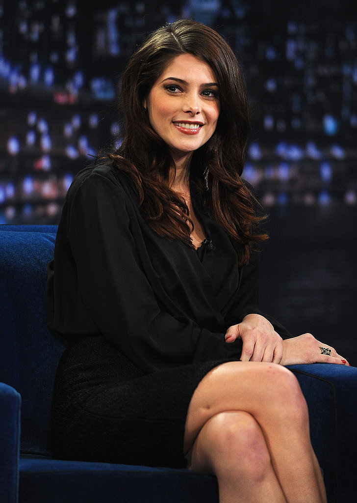 Ashley Greene had big, voluminous hair for Late Night with Jimmy Fallon.