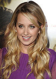 Megan Park in a purple dress.