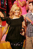 Rachel visited the set of TRL in 2005.