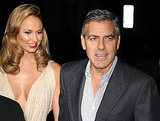 George Clooney Kisses Stacy Keibler in a Very Revealing Dress