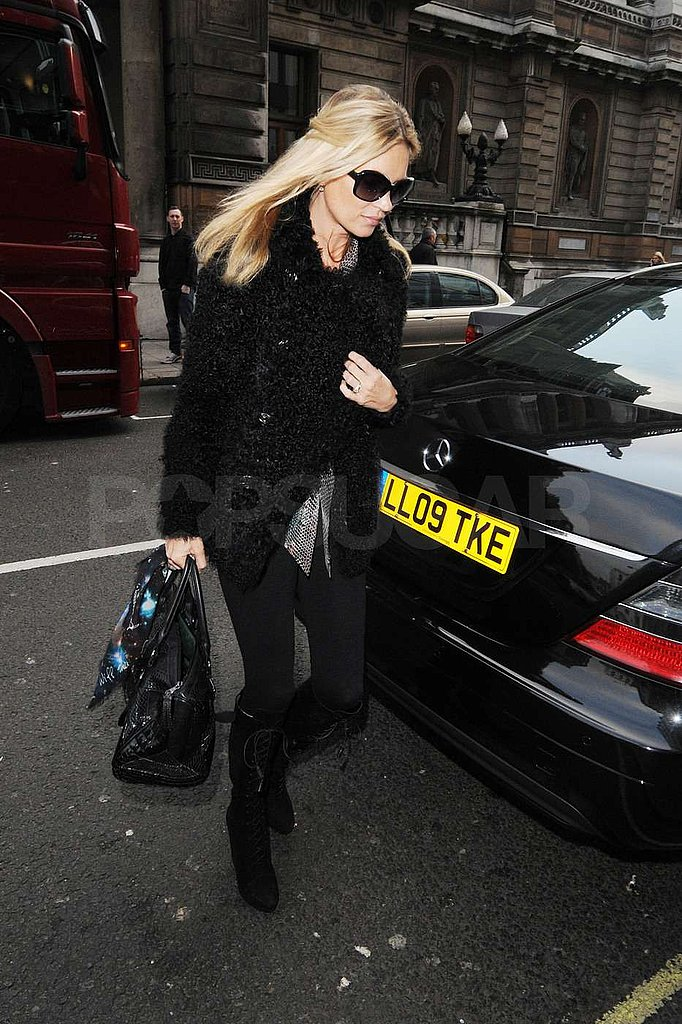 Kate Moss headed to Vivienne Westwood.