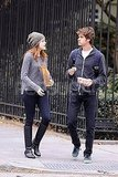 Emma Stone and Andrew Garfield picked up snacks for a walk in NYC.