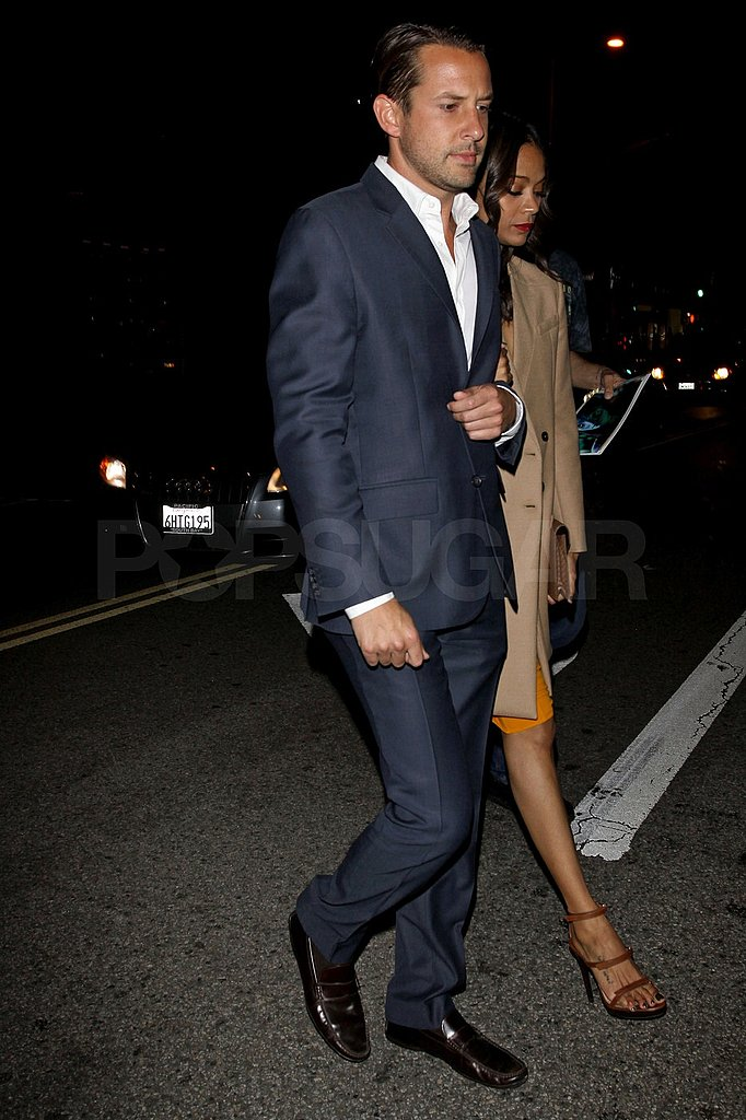Gary Mantoosh escorted Zoe Saldana to dinner in LA.