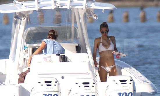 Anna Kournikova Slips On a Sexy White Bikini For PDA With Enrique Iglesias