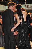 Kristen Stewart Sparkles in a Sexy Gown Alongside Robert Pattinson and Taylor Lautner in London