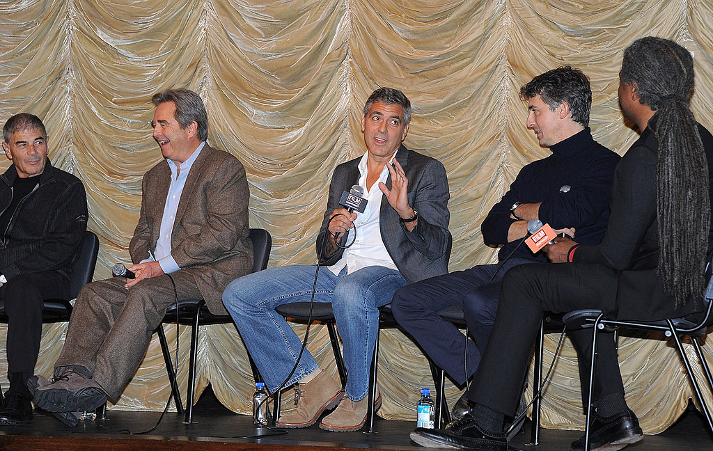 George Clooney answered a question about The Descendants at a screening in LA.