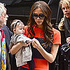Pictures of Victoria Beckham Holding Baby Harper Beckham