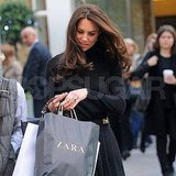 Kate Middleton with her shopping bags from Zara!