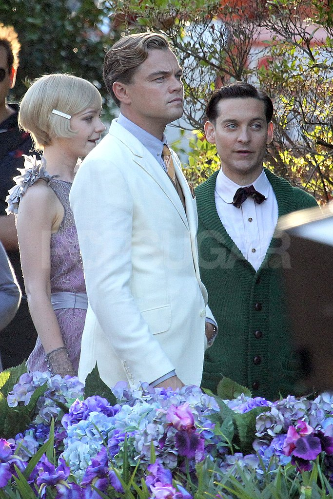 Leonardo DiCaprio, Carey Mulligan, and Tobey Maguire in Australia.