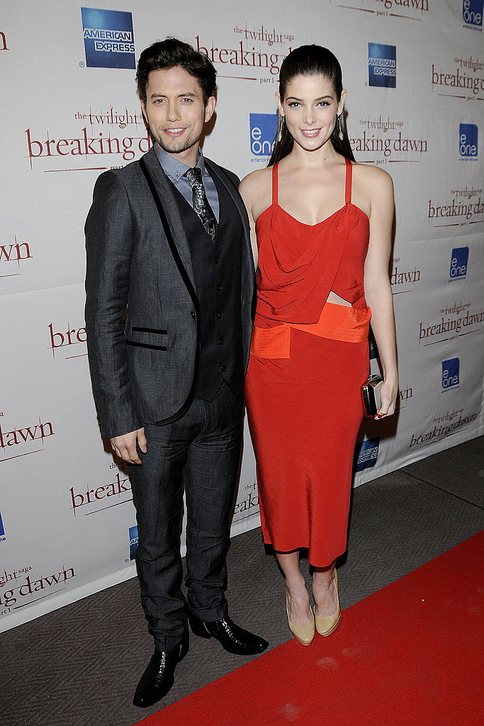 Ashley Greene posed with Jackson Rathbone in Toronto.