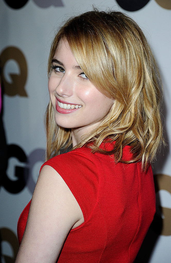 Emma Roberts gave a look over her shoulder.
