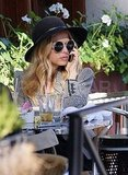 Rachel Zoe grabbing lunch in LA.