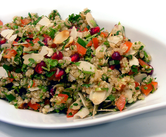 Pomegranate Lime Quinoa Salad