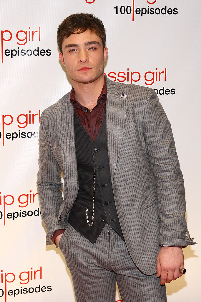 Ed Westwick at a Gossip Girl party.