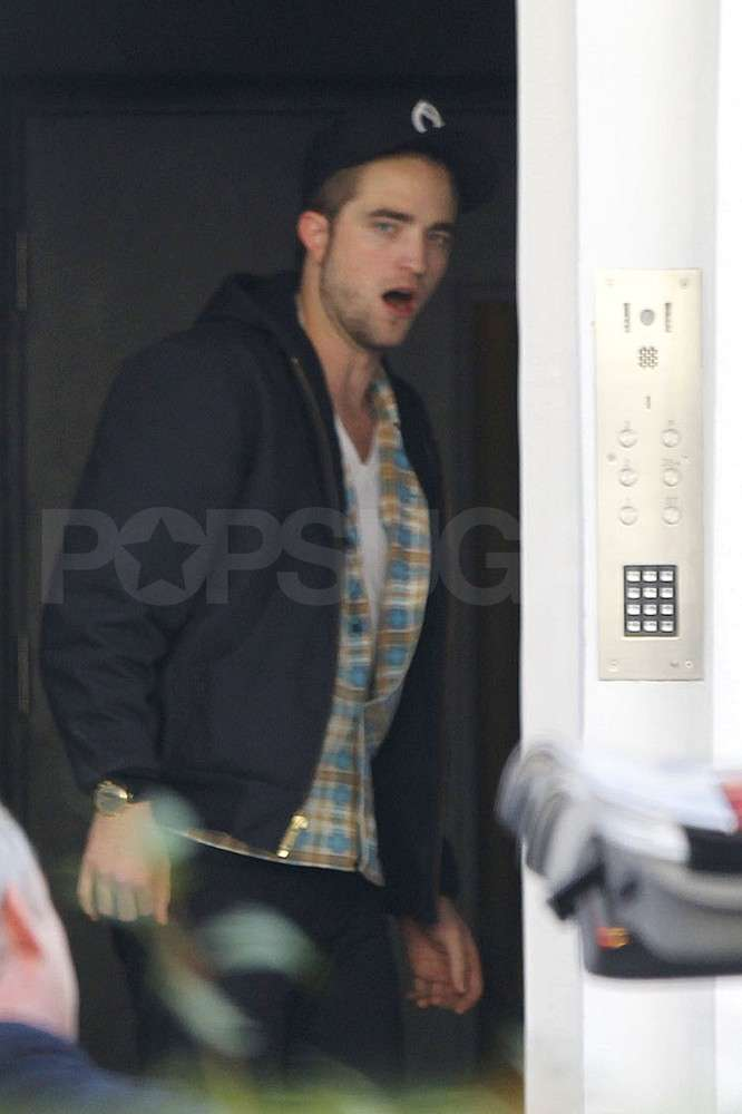 Robert Pattinson arrived at his London home.
