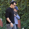 Jennifer Aniston &amp; Justin Theroux Walk With Dolly Pictures