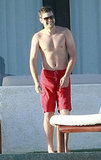 Shirtless Joshua Jackson.