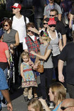 Reese Witherspoon and her family at Disneyland.