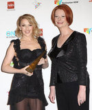 Kylie Minogue and Julia Gillard
