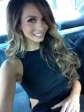 Ricki-Lee sported long curled tresses and a black cutout dress. Twitter User: TheRickiLee