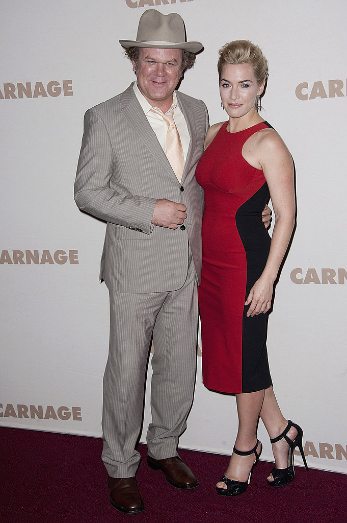 Kate Winslet and her Carnage costar John C. Reilly.