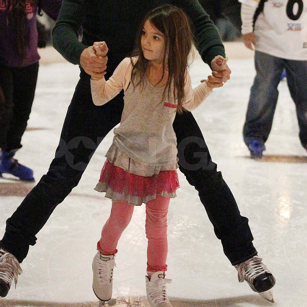 Suri Cruise ice-skating.