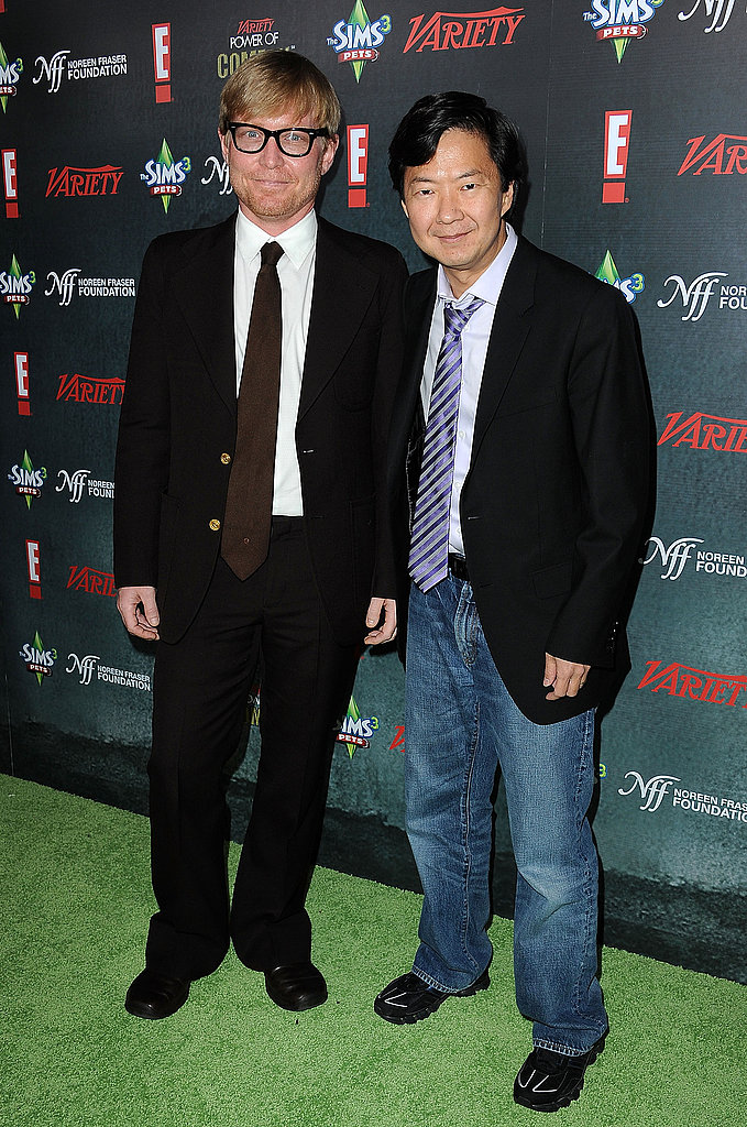 Ken Jeong and his Million Dollar Strong comedy partner Mike O'Connell walked the green carpet together.
