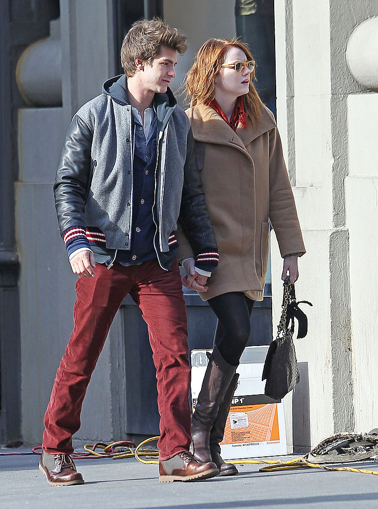 Emma Stone and Andrew Garfield hit the streets of NYC.
