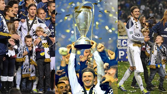 Video: David Beckham Celebrates His MLS Cup Win With His Cute Family