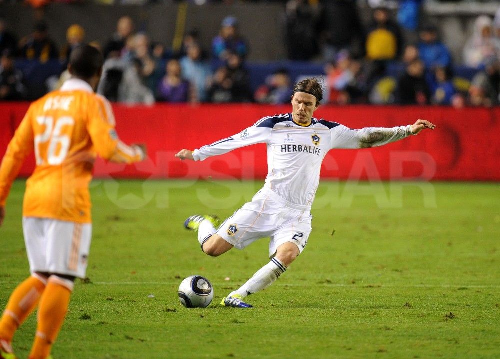 David Beckham showed off some fancy footwork.