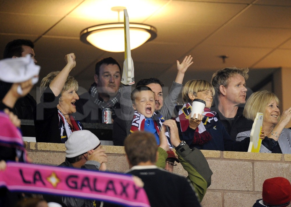 Cruz Beckham gave a big cheer from the stands.