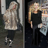 Kate Moss Shows Her Spots During a Full Day in the UK