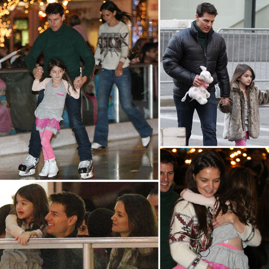 Katie Holmes and Tom Cruise Take Suri on an Ice-Skating Adventure