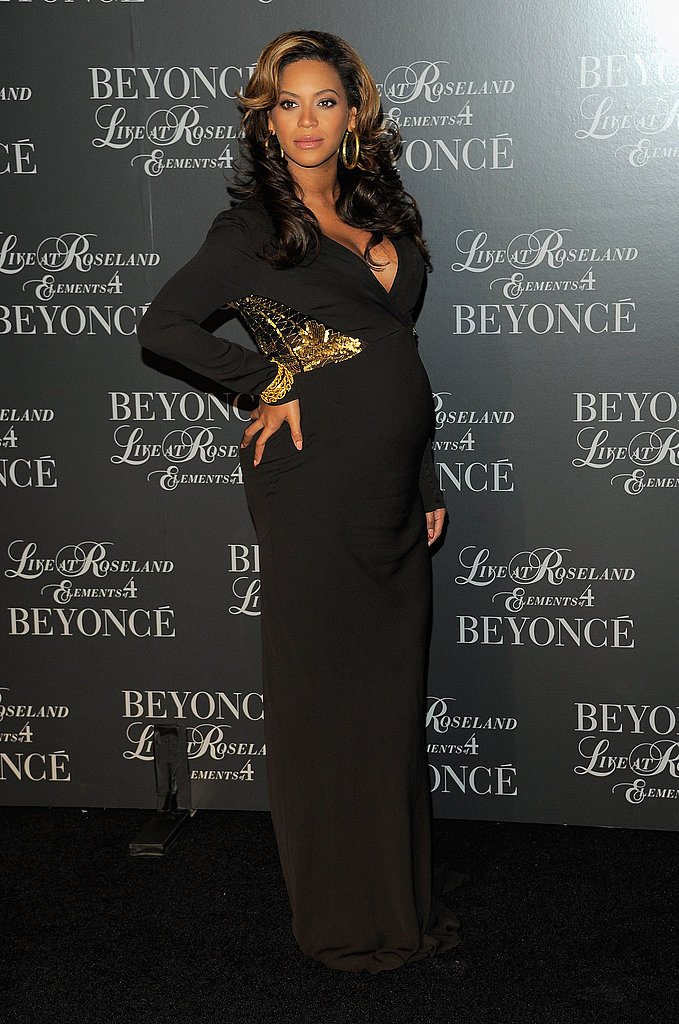 Beyoncé slipped into a subtly embellished black gown to host a screening of her new DVD, Live at Roseland: The Elements of 4.
