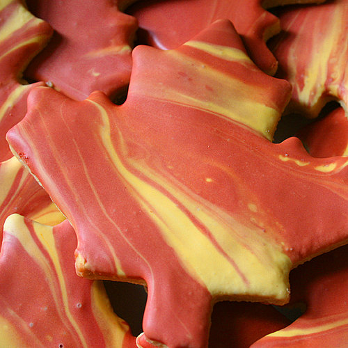 Fall Leaf Iced Cookies