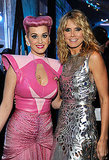 Katy Perry and Heidi Klum get close for a picture at the AMAs.