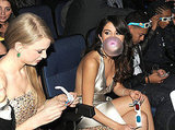 Selena Gomez shows off her impressive bubble gum skills.