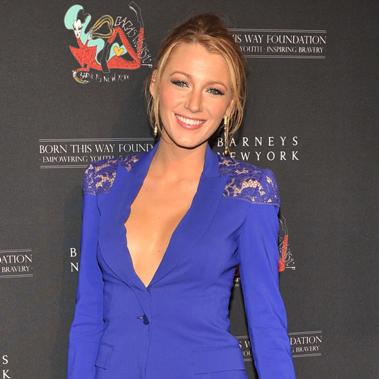 Blake Lively Suit Pictures at Gaga's Workshop Launch