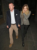 Jacqui Ainsley and Guy Ritchie had dinner with Gwyneth Paltrow.