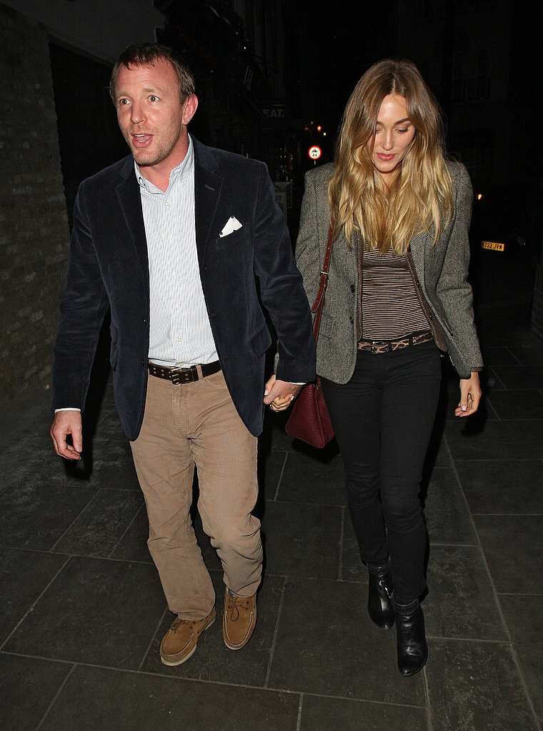 Jacqui Ainsley and Guy Ritchie left their newborn son home in London.
